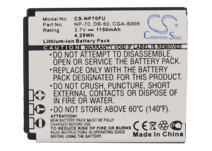 Akku-Batteria-1150mAh-fuer-PANASONIC-Lumix-DMC-FX07S-DMC-FX10-DMC-FX100EF-K Indexbild 4