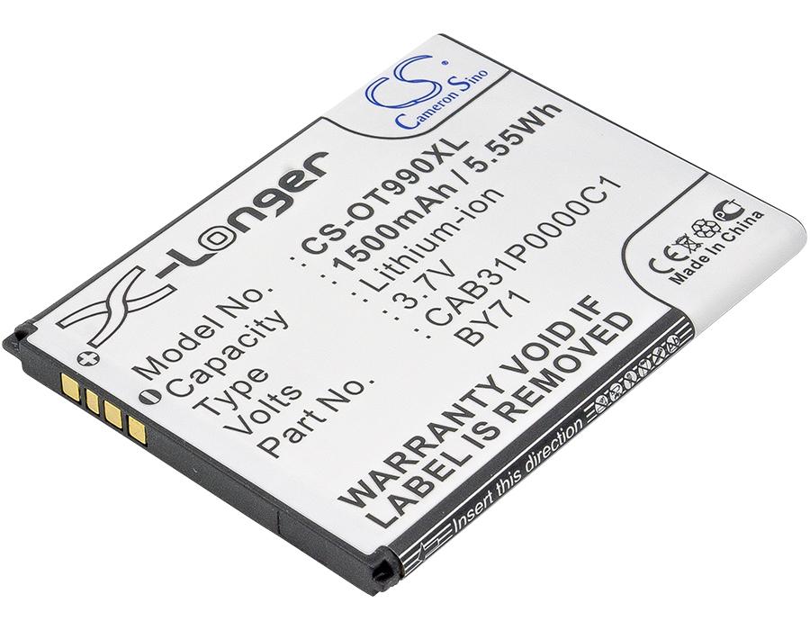 Cameron Sino baterie do mobilů pro ALCATEL OT-908 3.7V Li-ion 1500mAh černá - neoriginální