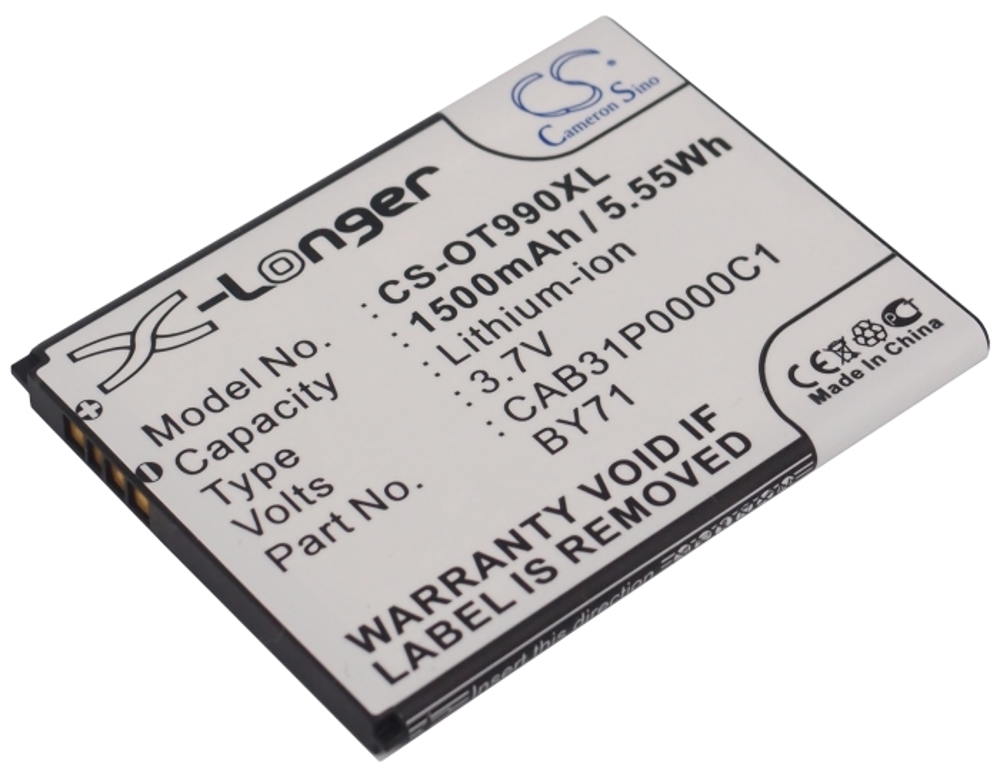 Cameron Sino baterie do mobilů pro ALCATEL One Touch POP C3 Dual 3.7V Li-ion 1500mAh černá - neoriginální