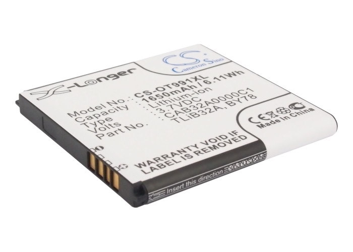 Cameron Sino baterie do mobilů pro ALCATEL OT-6010D 3.7V Li-ion 1650mAh černá - neoriginální