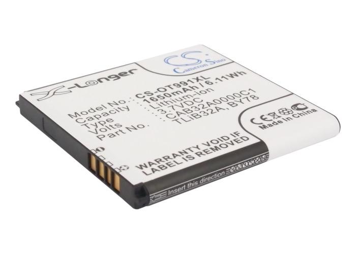 Cameron Sino baterie do mobilů pro ALCATEL One Touch 991 Play 3.7V Li-ion 1650mAh černá - neoriginální