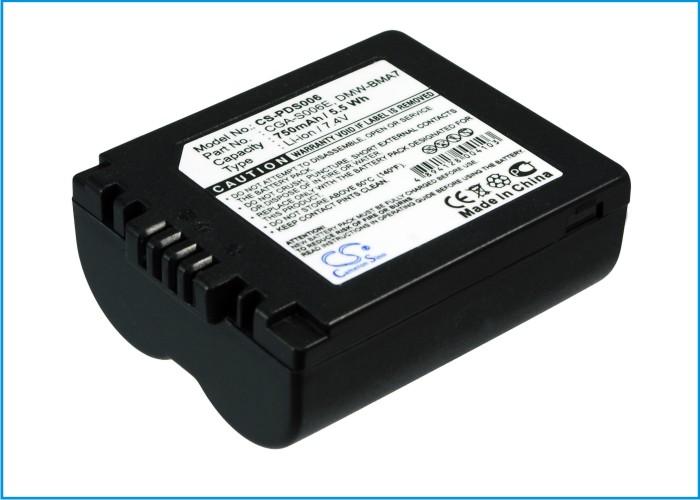 Cameron Sino baterie do kamer a fotoaparátů pro PANASONIC Lumix DMC-FZ50 7.4V Li-ion 750mAh tmavě šedá - neoriginální