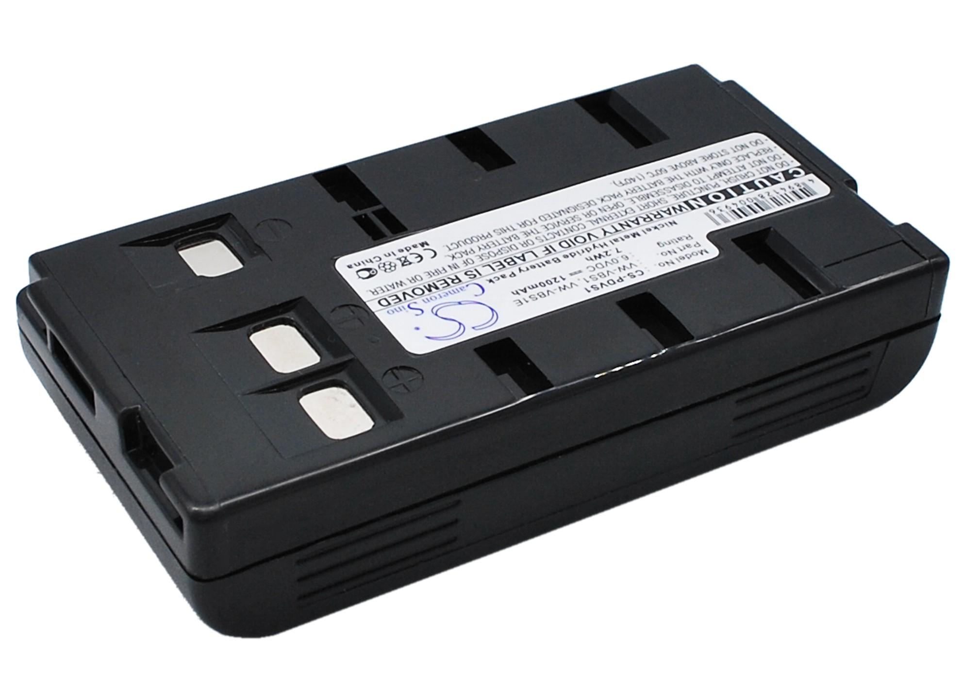 Cameron Sino baterie do kamer a fotoaparátů pro PANASONIC NV-G3 6V Ni-MH 1200mAh tmavě šedá - neoriginální