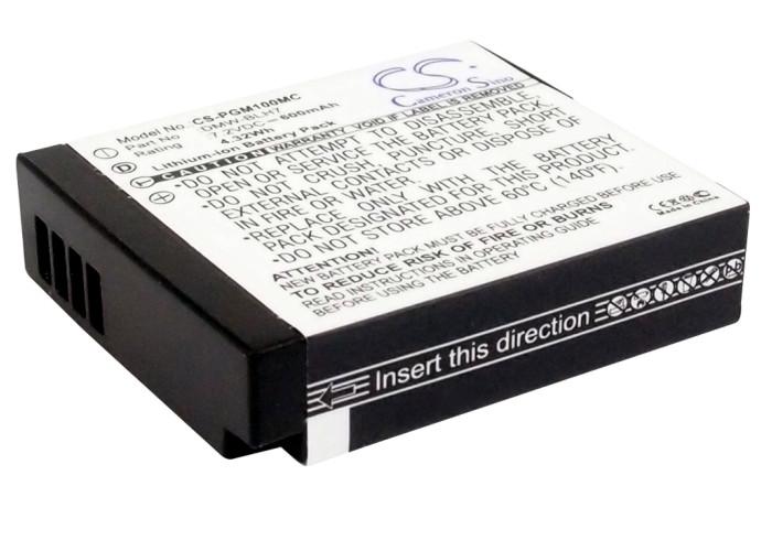 Cameron Sino baterie do kamer a fotoaparátů pro PANASONIC Lumix DMC-GM5 7.2V Li-ion 600mAh černá - neoriginální