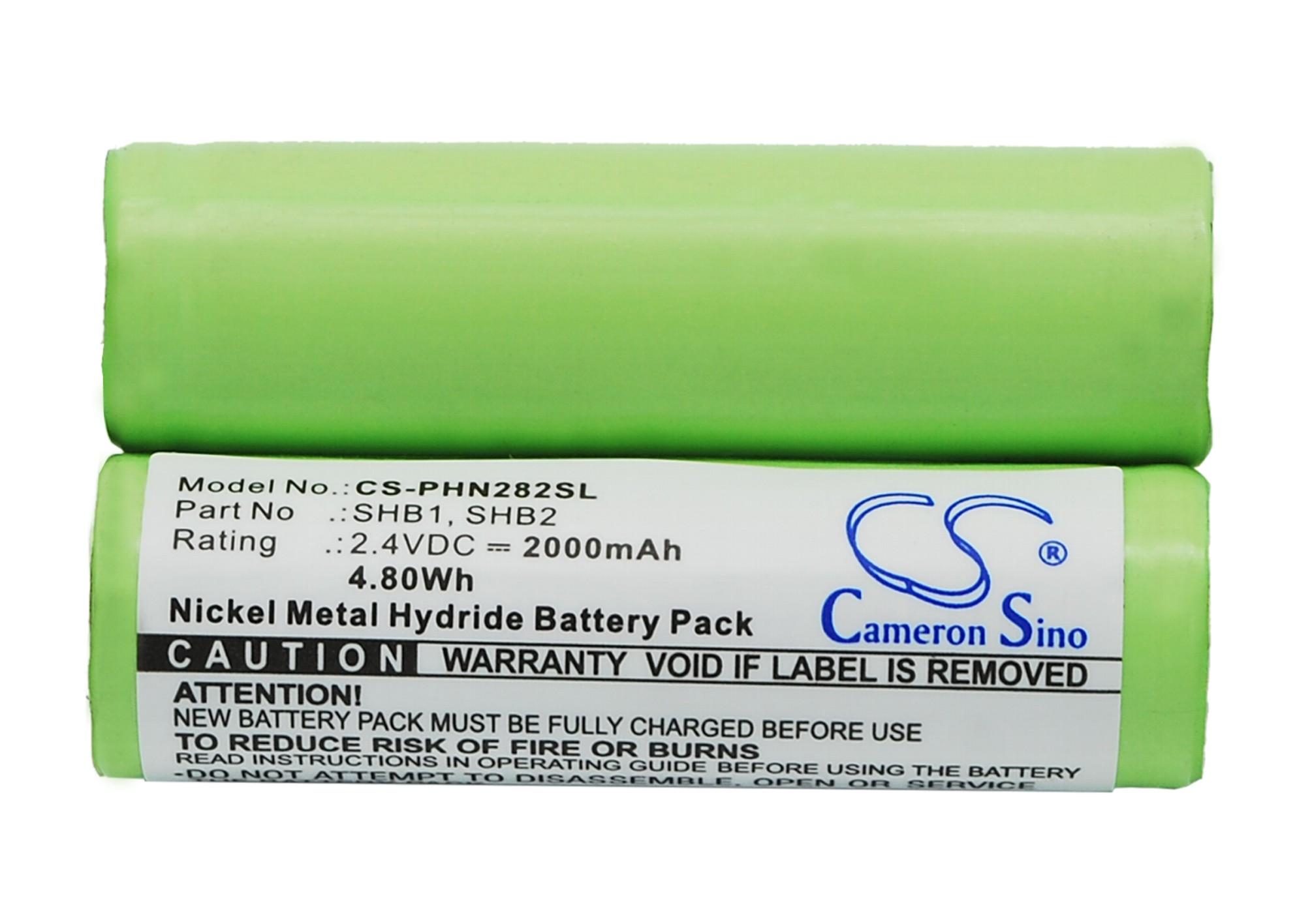Cameron Sino baterie do holicích strojků pro PHILIPS Philips T-770 2.4V Ni-MH 2000mAh zelená - neoriginální