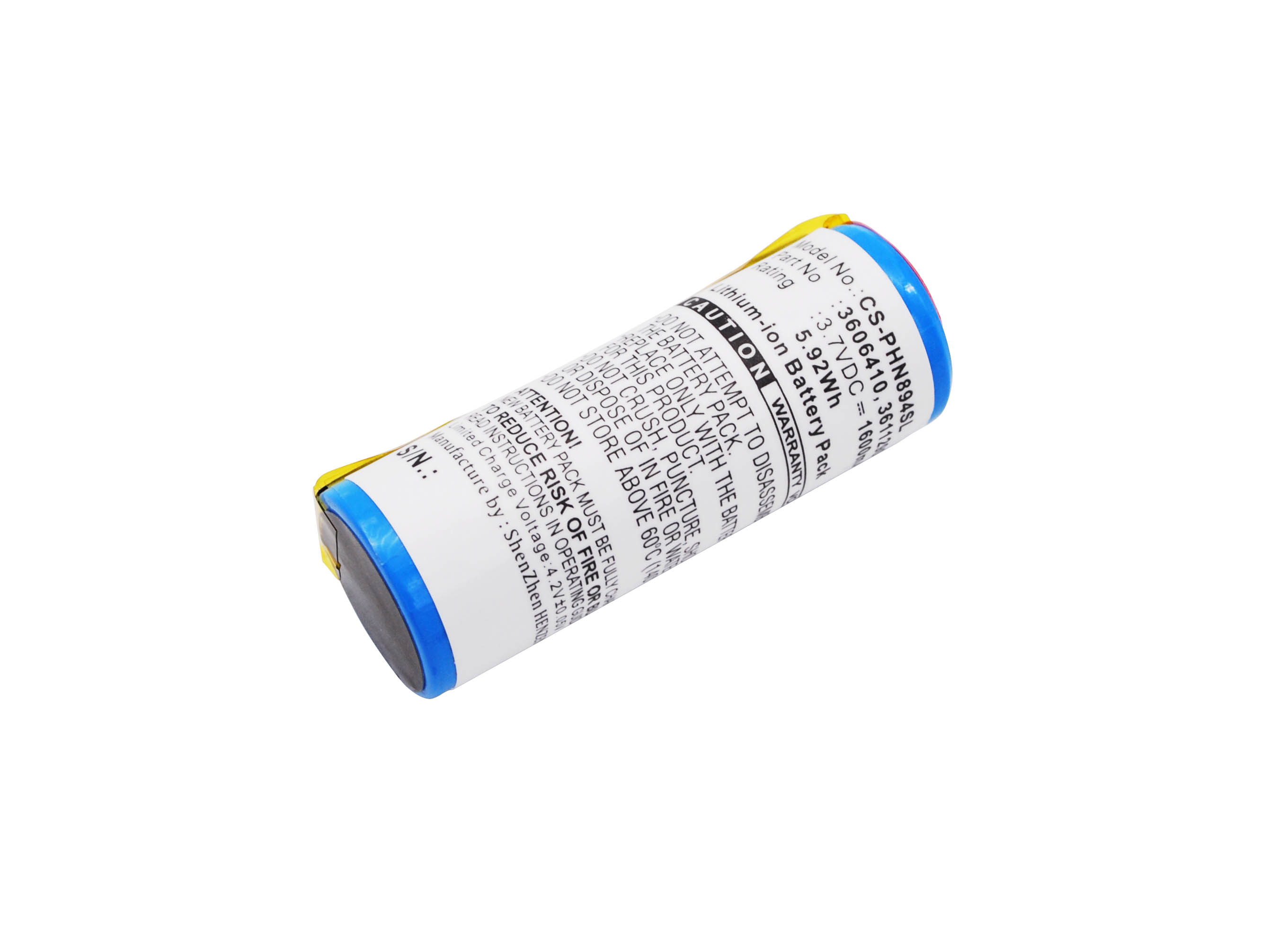 Cameron Sino baterie do holicích strojků pro BRAUN 760CC 3.7V Li-ion 1600mAh modrá - neoriginální