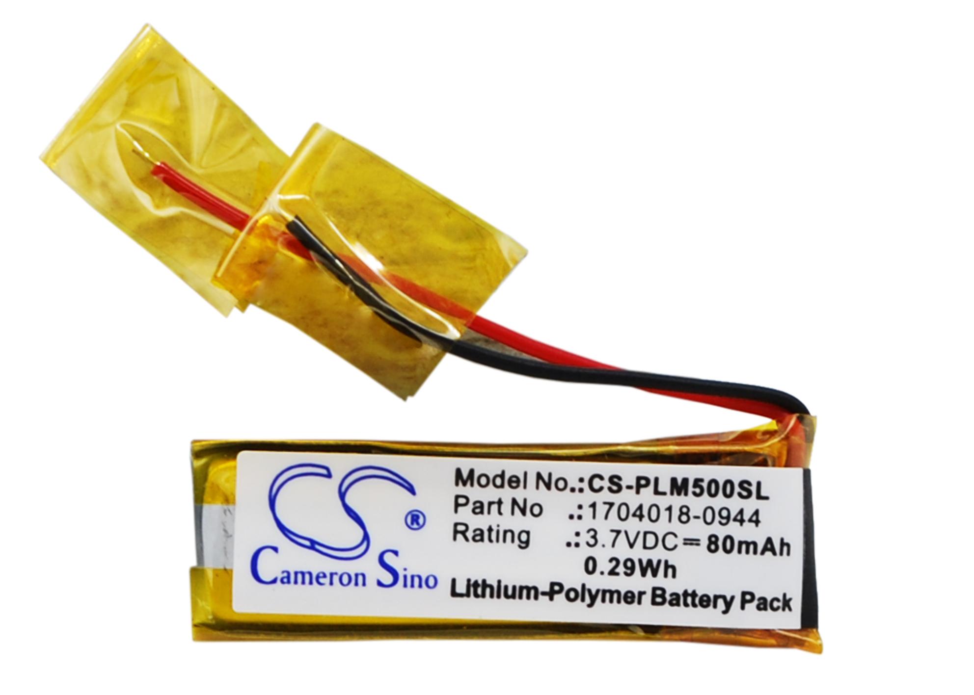Cameron Sino baterie do bezdrátových sluchátek a headsetů pro PLANTRONICS M50 3.7V Li-Polymer 80mAh černá - neoriginální