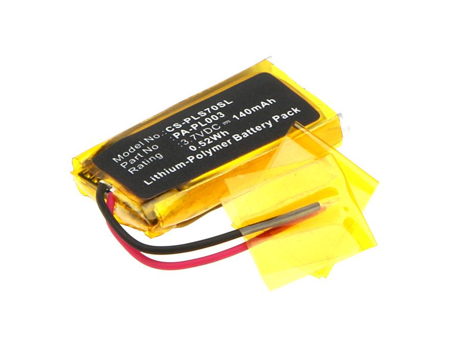 Cameron Sino baterie do bezdrátových sluchátek a headsetů pro PLANTRONICS Voyager Pro HD 3.7V Li-Polymer 140mAh černá - neoriginální