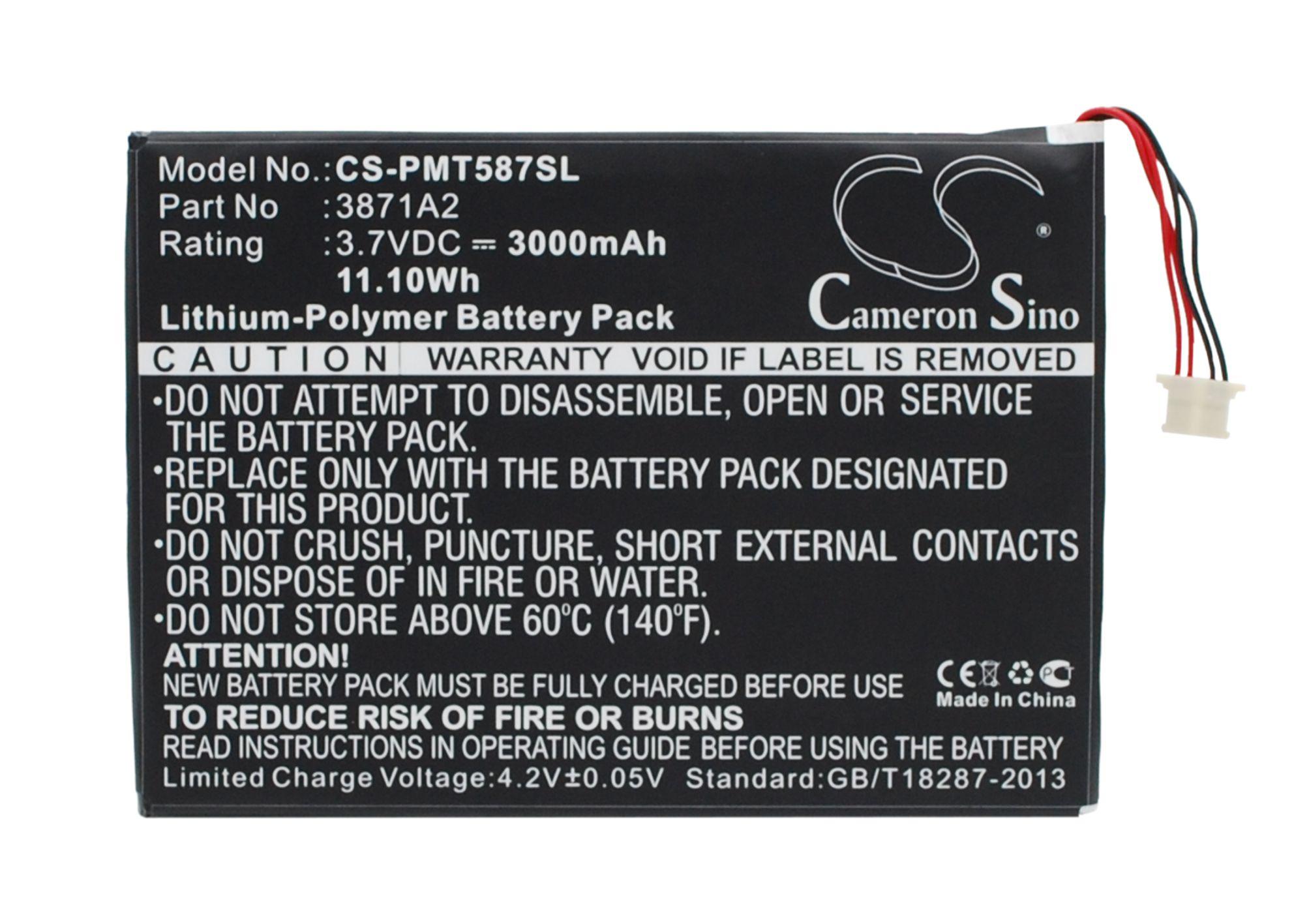 Cameron Sino baterie do tabletů pro PRESTIGIO Multipad 7.0 Ultra Duo 3.7V Li-Polymer 3000mAh černá - neoriginální