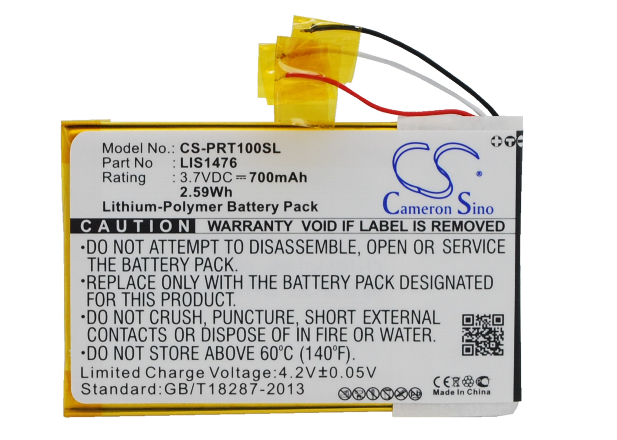 Cameron Sino baterie do elektronických čteček knih pro SONY PRS-T1 3.7V Li-Polymer 700mAh černá - neoriginální