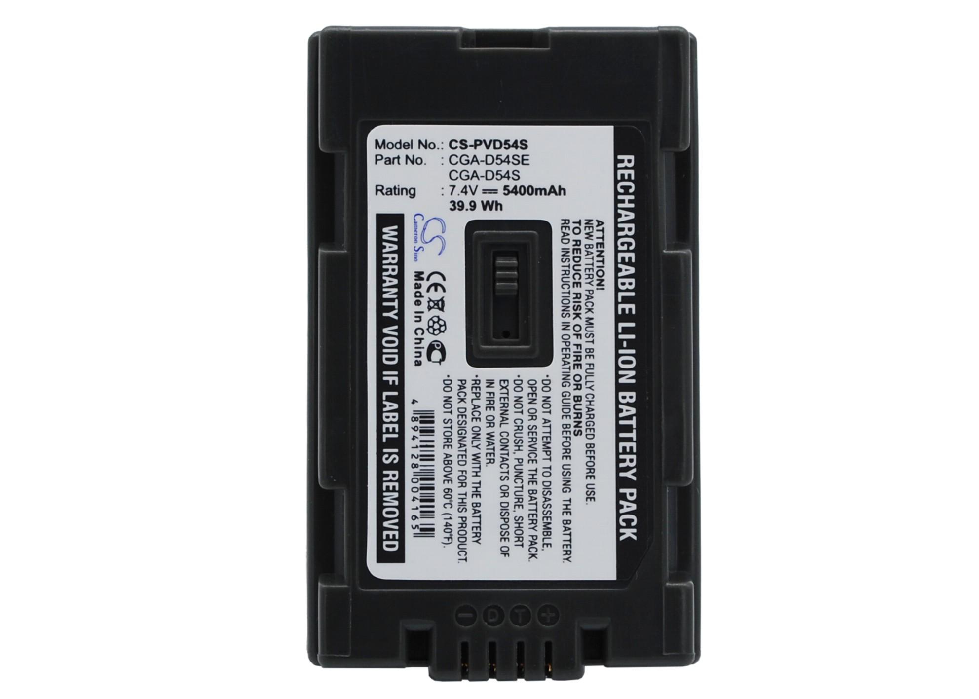 Cameron Sino baterie do kamer a fotoaparátů pro PANASONIC NV-GX7 7.4V Li-ion 5400mAh tmavě šedá - neoriginální