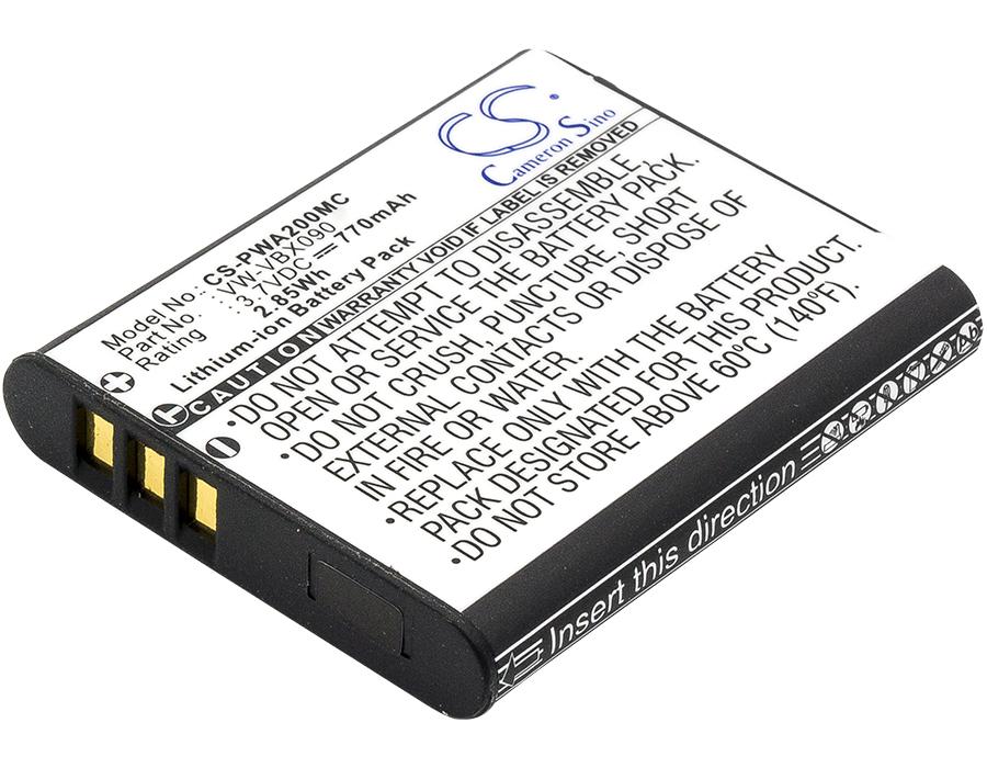 Cameron Sino baterie do kamer a fotoaparátů pro PANASONIC HX-WA03W 3.7V Li-ion 770mAh černá - neoriginální