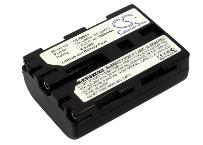 Cameron Sino baterie do kamer a fotoaparátů pro SONY HDR-SR1e 7.4V Li-ion 1300mAh tmavě šedá - neoriginální