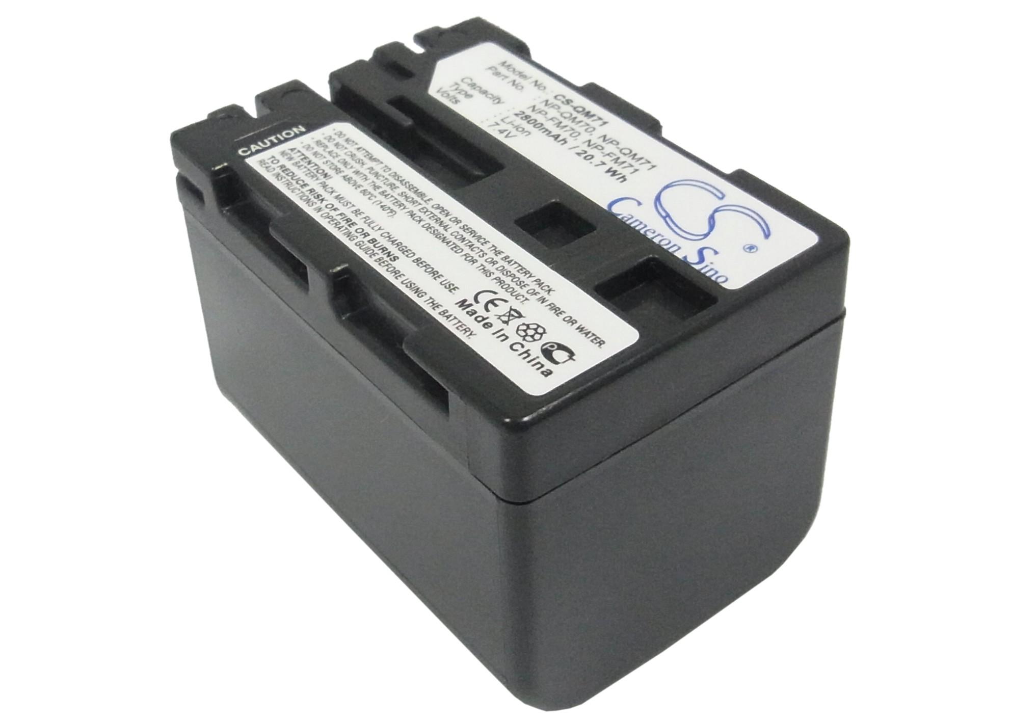 Cameron Sino baterie do kamer a fotoaparátů pro SONY DCR-DVD201 7.4V Li-ion 2800mAh tmavě šedá - neoriginální