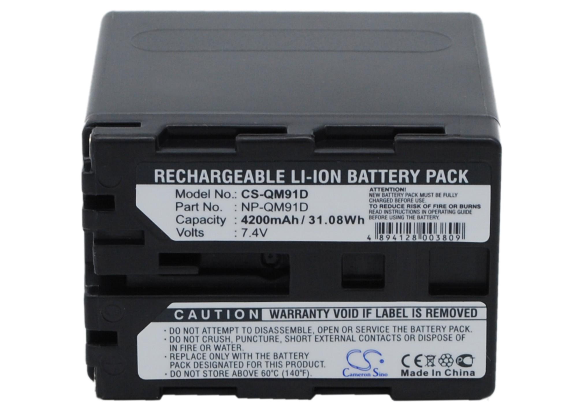 Cameron Sino baterie do kamer a fotoaparátů pro SONY DCR-DVD201 7.4V Li-ion 4200mAh tmavě šedá - neoriginální