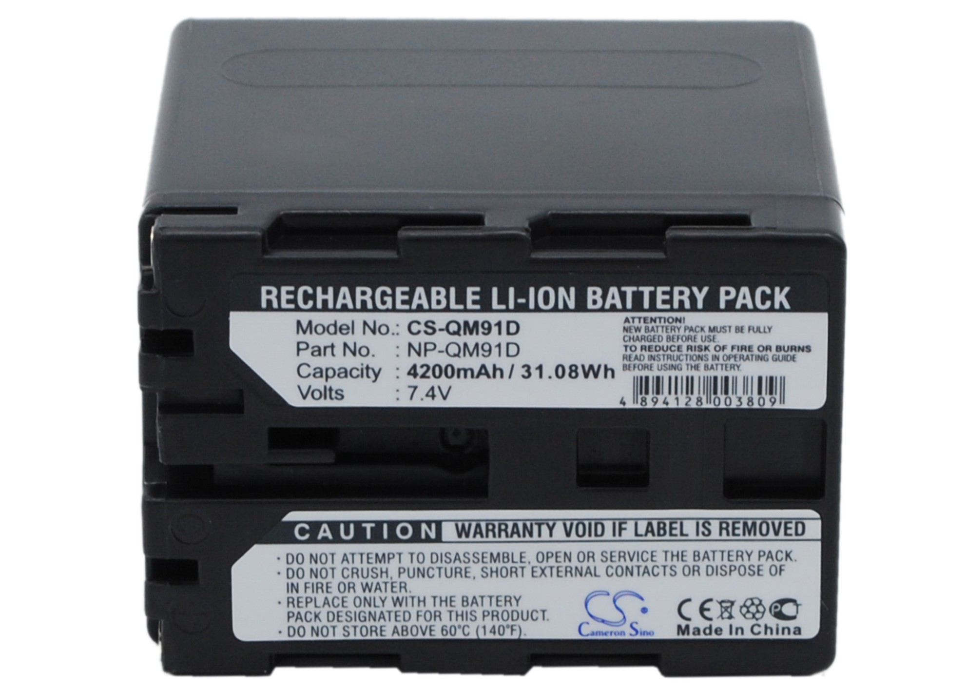 Cameron Sino baterie do kamer a fotoaparátů pro SONY DCR-DVD91 7.4V Li-ion 4200mAh tmavě šedá - neoriginální