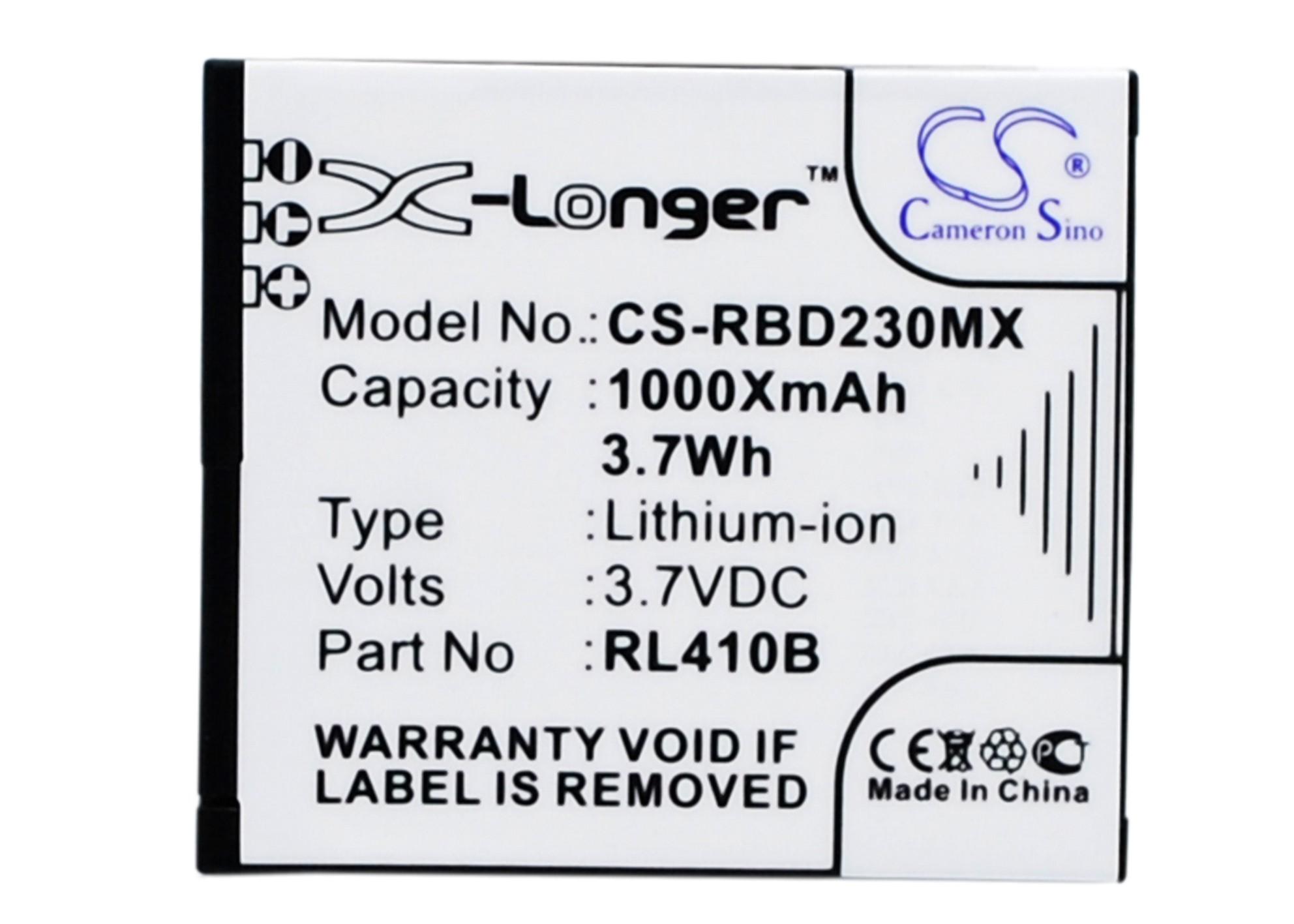Cameron Sino baterie do kamer a fotoaparátů pro ROLLEI Actioncam 410 3.7V Li-ion 1000mAh černá - neoriginální