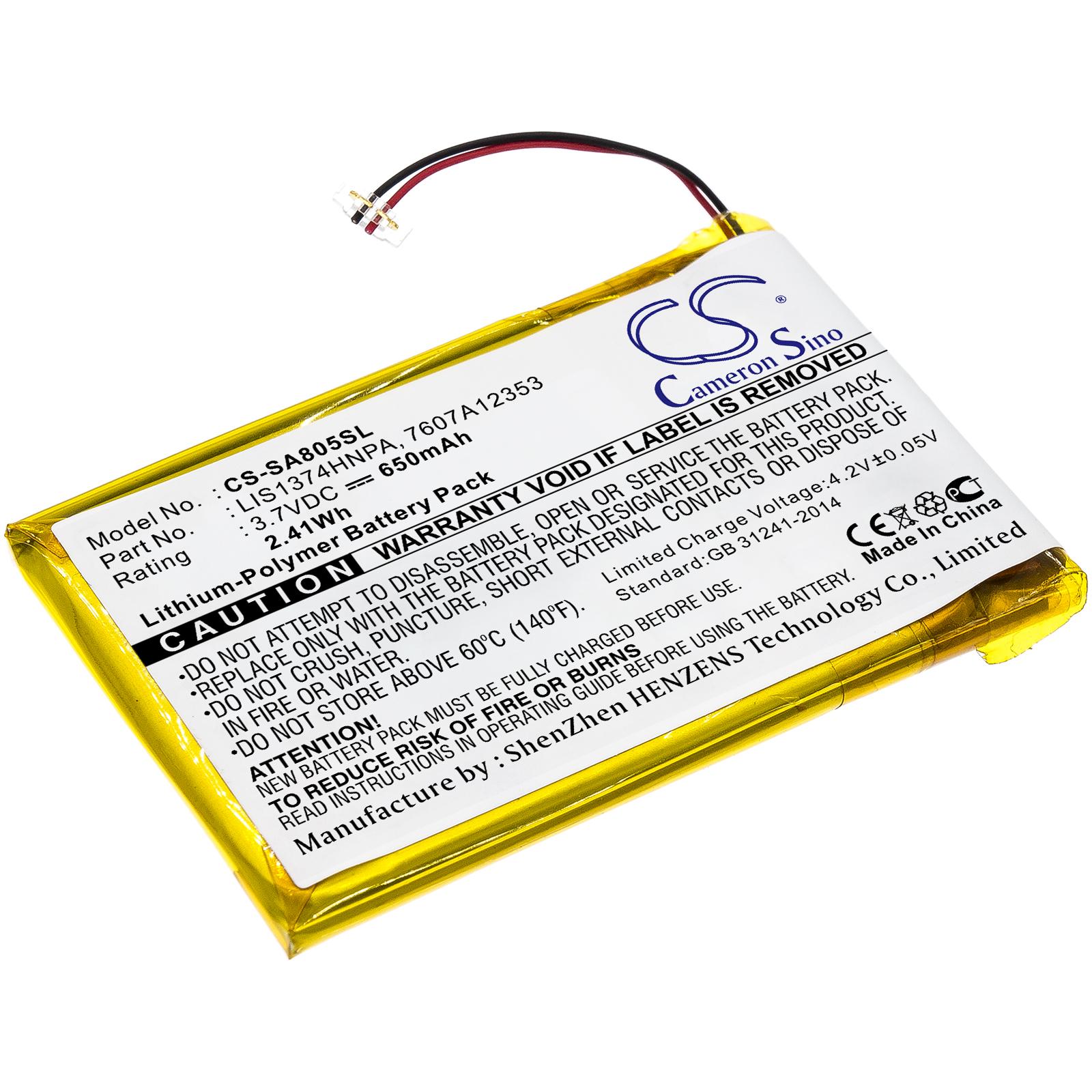 Cameron Sino baterie do mp3 přehrávačů pro SONY NWZ-A818 3.7V Li-Polymer 750mAh černá - neoriginální