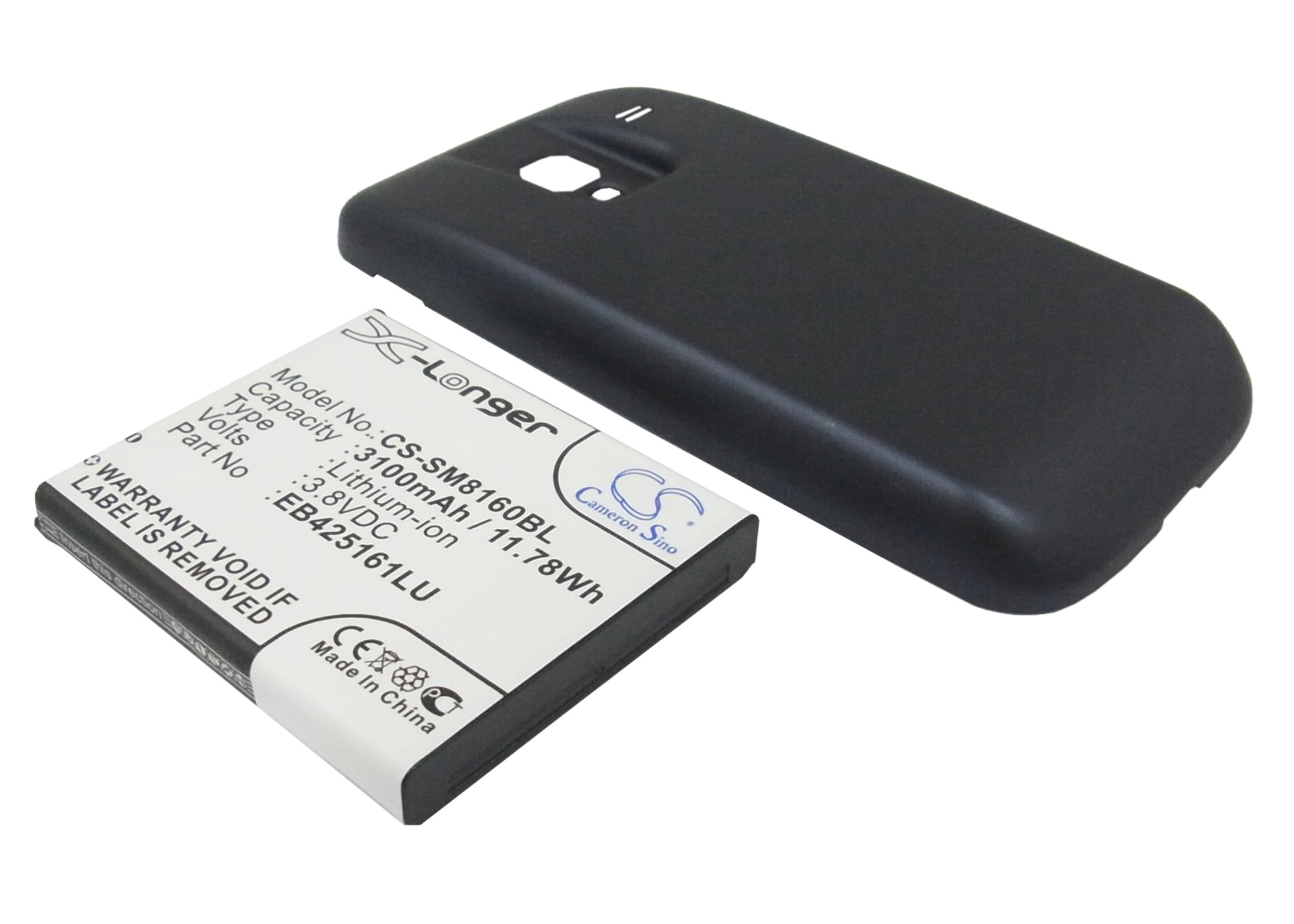 Cameron Sino baterie do mobilů pro SAMSUNG GT-I8160 3.8V Li-ion 3500mAh modrá - neoriginální