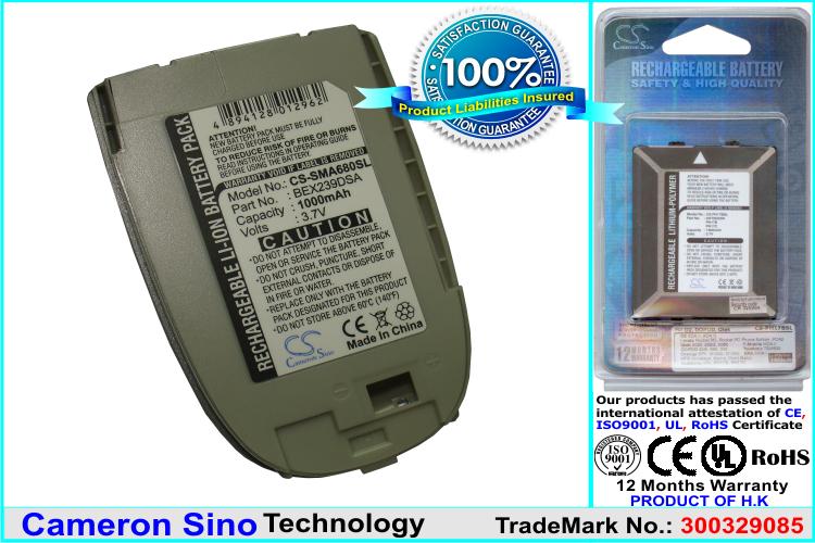 Cameron Sino baterie do mobilů pro SAMSUNG SPH-A680 3.7V Li-ion 1000mAh stříbrná - neoriginální