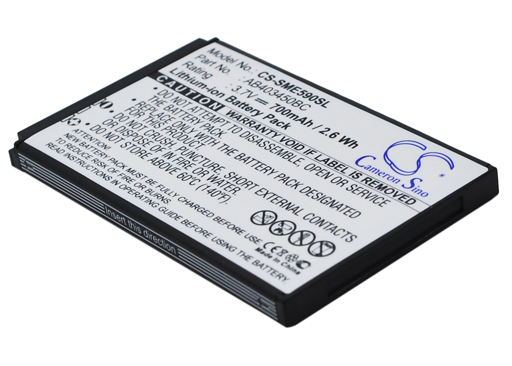 Cameron Sino baterie do mobilů pro SAMSUNG SGH-L310 3.7V Li-ion 700mAh černá - neoriginální