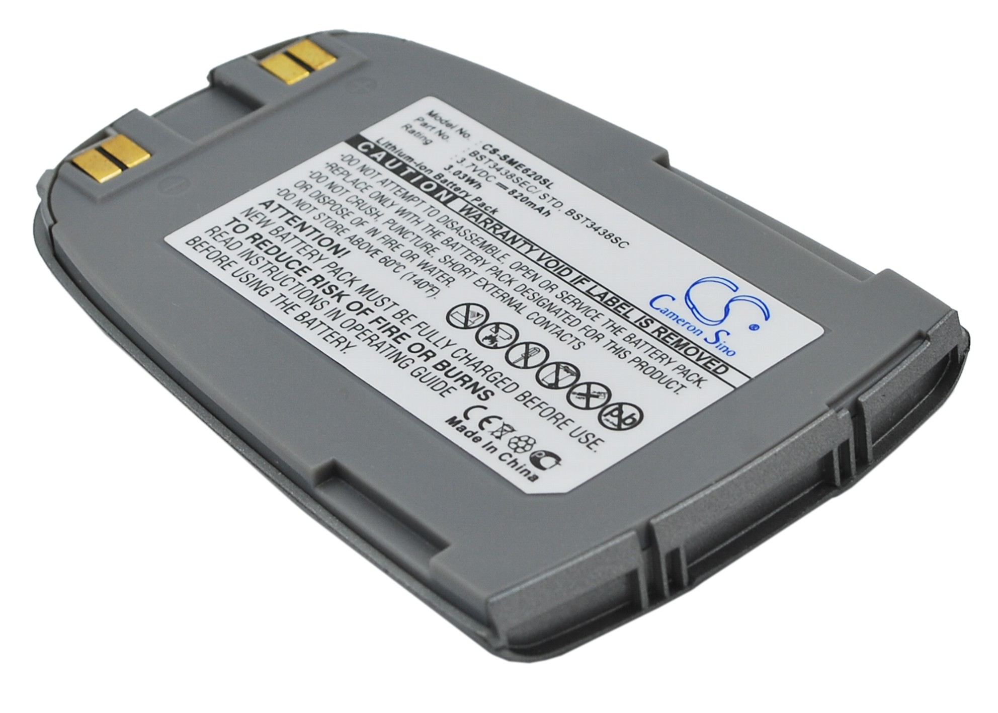Cameron Sino baterie do mobilů pro SAMSUNG SGH-E620 3.7V Li-ion 820mAh šedá - neoriginální