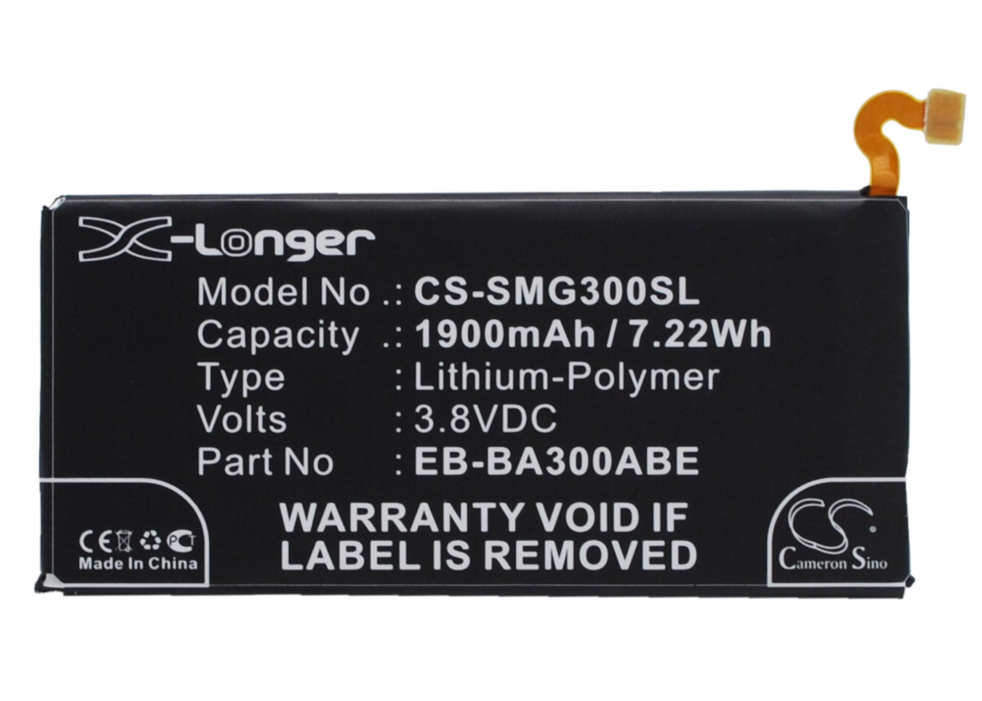 Cameron Sino baterie do mobilů pro SAMSUNG SM-A300F/DS 3.8V Li-Polymer 1900mAh černá - neoriginální