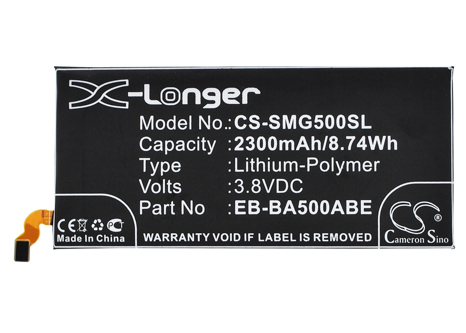 Cameron Sino baterie do mobilů pro SAMSUNG SM-A500F/DS 3.8V Li-Polymer 2300mAh černá - neoriginální