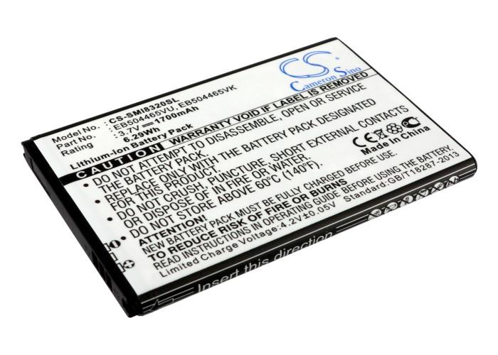 Cameron Sino baterie do mobilů pro SAMSUNG Omnia Pro Giorgio Armani GT-B7300 Omnia Pro B7300 3.7V Li-ion 1700mAh černá - neoriginální