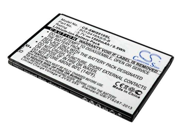 Cameron Sino baterie do mobilů pro SAMSUNG Omnia HD i8910 3.7V Li-ion 1500mAh černá - neoriginální