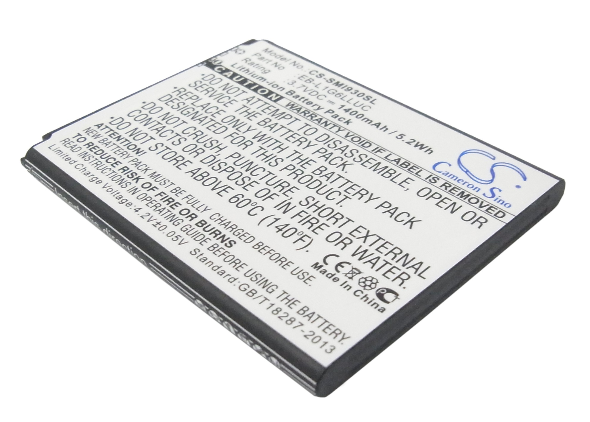 Cameron Sino baterie do mobilů pro SAMSUNG SCH-R530 3.7V Li-ion 1400mAh černá - neoriginální