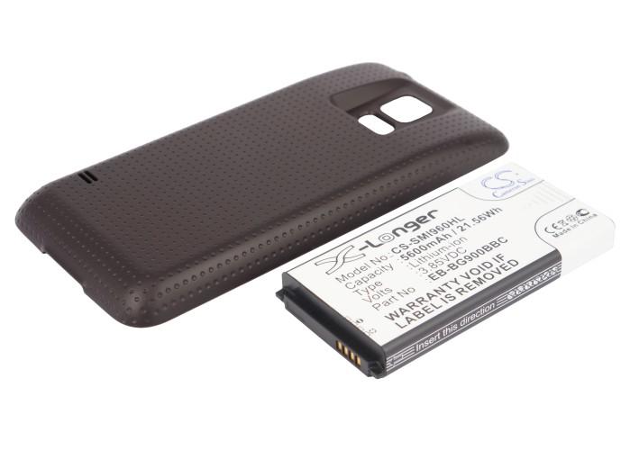 Cameron Sino baterie do mobilů pro SAMSUNG SM-G900F 3.85V Li-ion 5600mAh hnědá - neoriginální