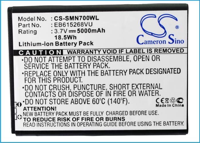 Cameron Sino baterie do mobilů pro SAMSUNG GT-N7000 3.7V Li-ion 5000mAh bílá - neoriginální