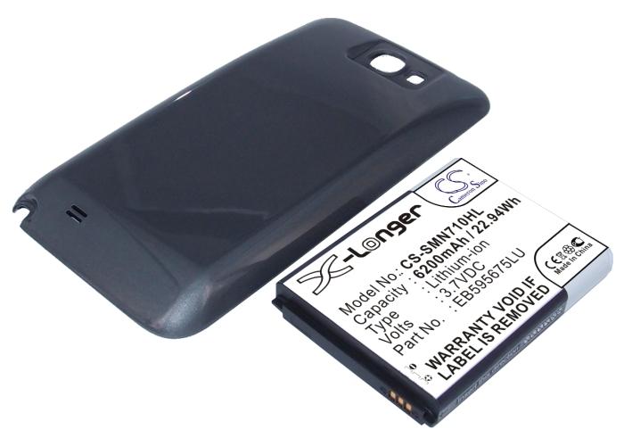 Cameron Sino baterie do mobilů pro SAMSUNG Galaxy Note II LTE 32GB 3.7V Li-ion 6200mAh šedá - neoriginální