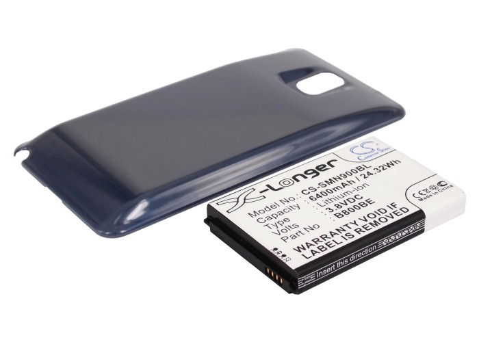 Cameron Sino baterie do mobilů pro SAMSUNG SM-N900 3.8V Li-ion 6400mAh modrá - neoriginální