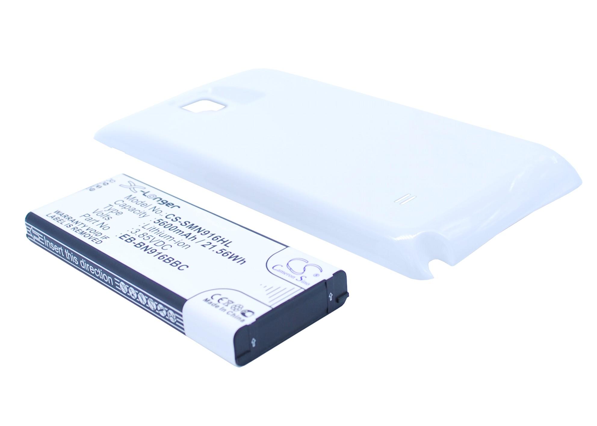 Cameron Sino baterie do mobilů pro SAMSUNG SM-N910F 3.85V Li-ion 5600mAh bílá - neoriginální
