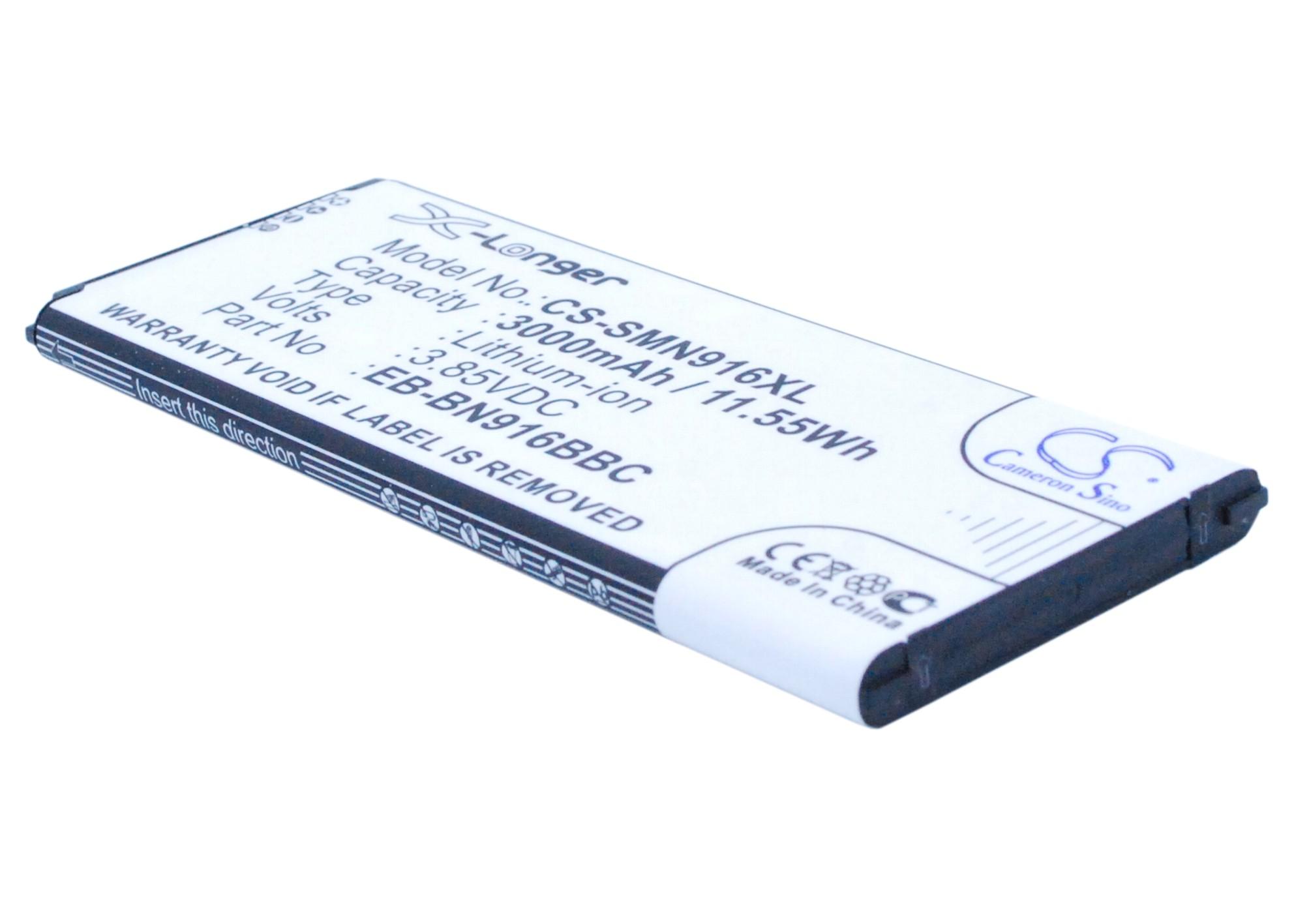 Cameron Sino baterie do mobilů pro SAMSUNG SM-N910F 3.85V Li-ion 3000mAh černá - neoriginální