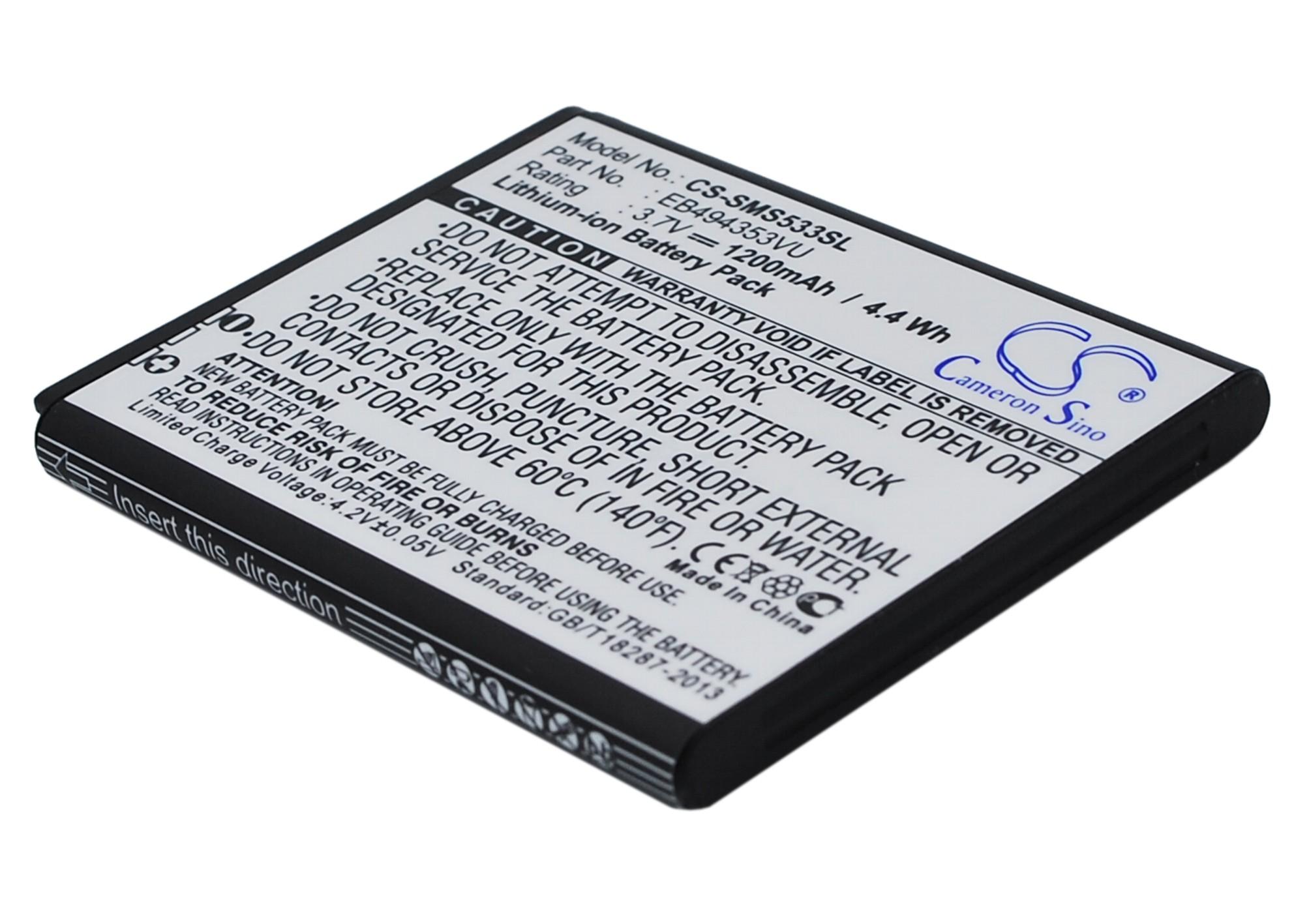 Cameron Sino baterie do mobilů pro SAMSUNG Galaxy S Wi-Fi 4.0 3.7V Li-ion 1200mAh černá - neoriginální
