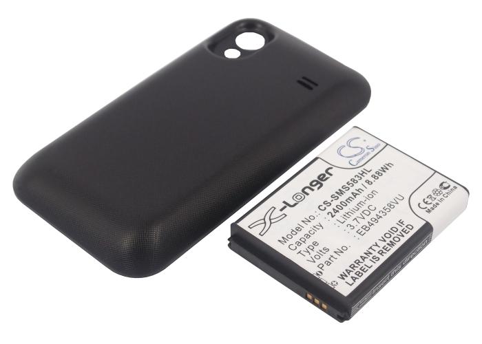 Cameron Sino baterie do mobilů pro SAMSUNG GT-S5830 3.7V Li-ion 2400mAh černá - neoriginální