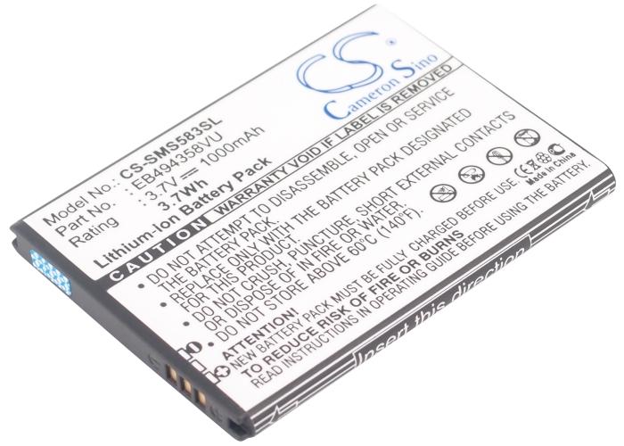 Cameron Sino baterie do mobilů pro SAMSUNG GT-S5830 3.7V Li-ion 1000mAh černá - neoriginální