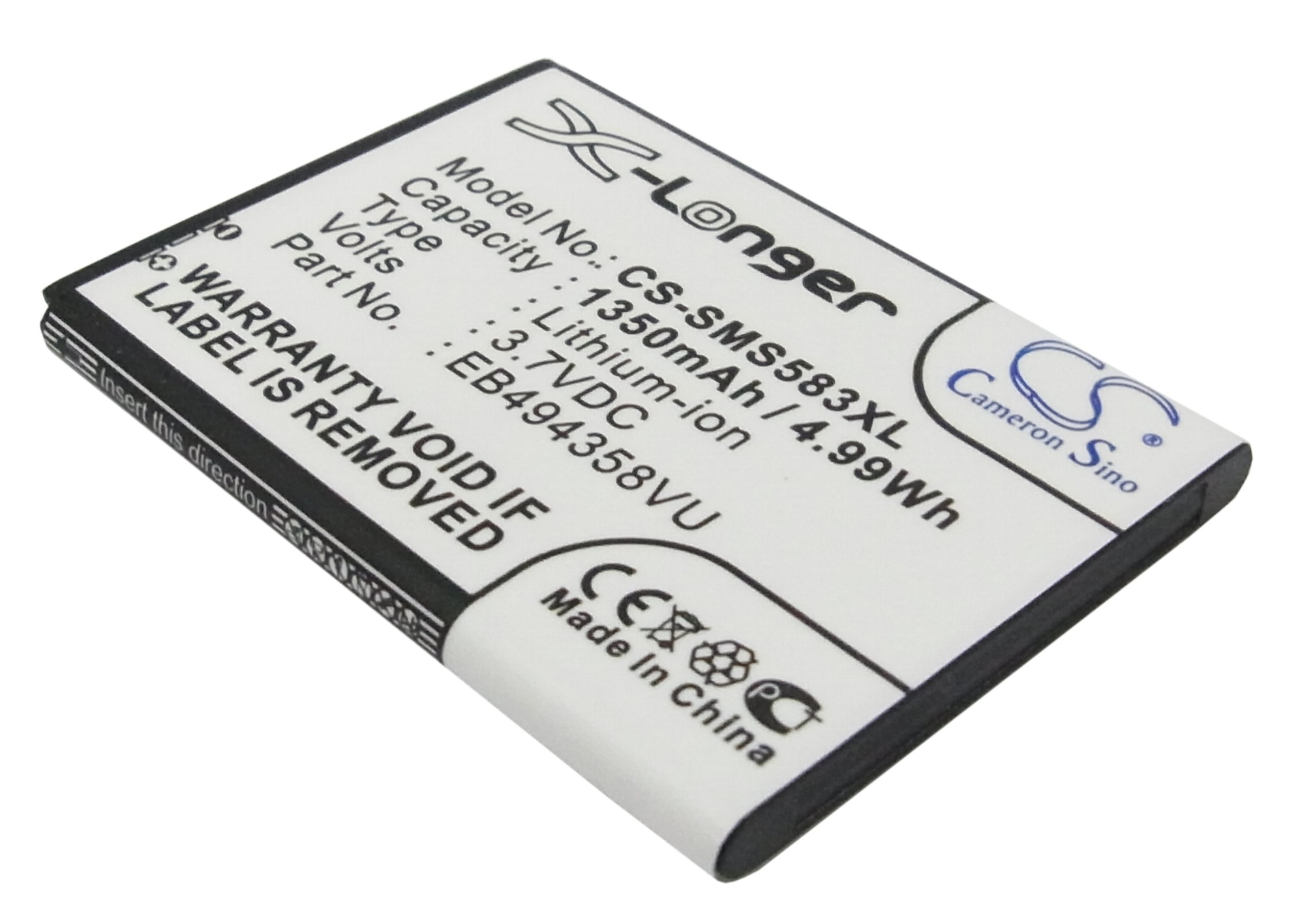Cameron Sino baterie do mobilů pro SAMSUNG GT-S5660 3.7V Li-ion 1350mAh černá - neoriginální