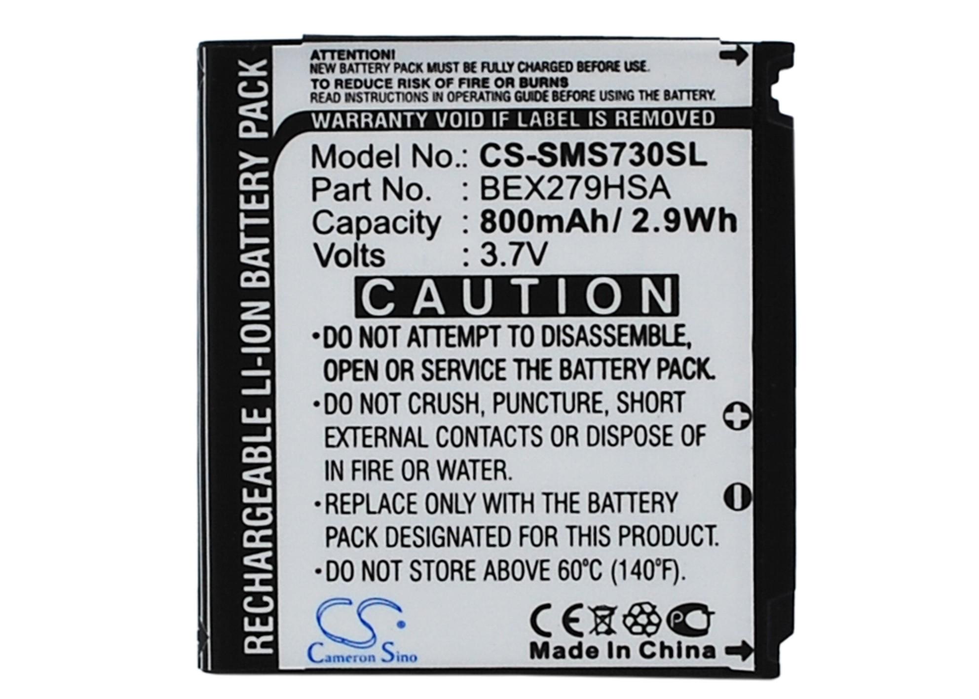 Cameron Sino baterie do mobilů pro SAMSUNG SGH-S730 3.7V Li-ion 800mAh černá - neoriginální