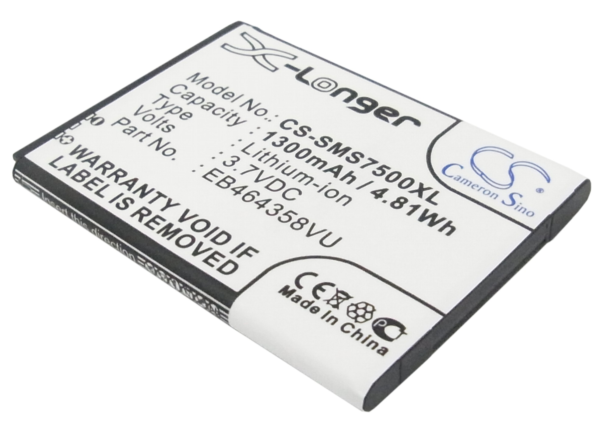 Cameron Sino baterie do mobilů pro SAMSUNG GT-S6310 3.7V Li-ion 1300mAh černá - neoriginální