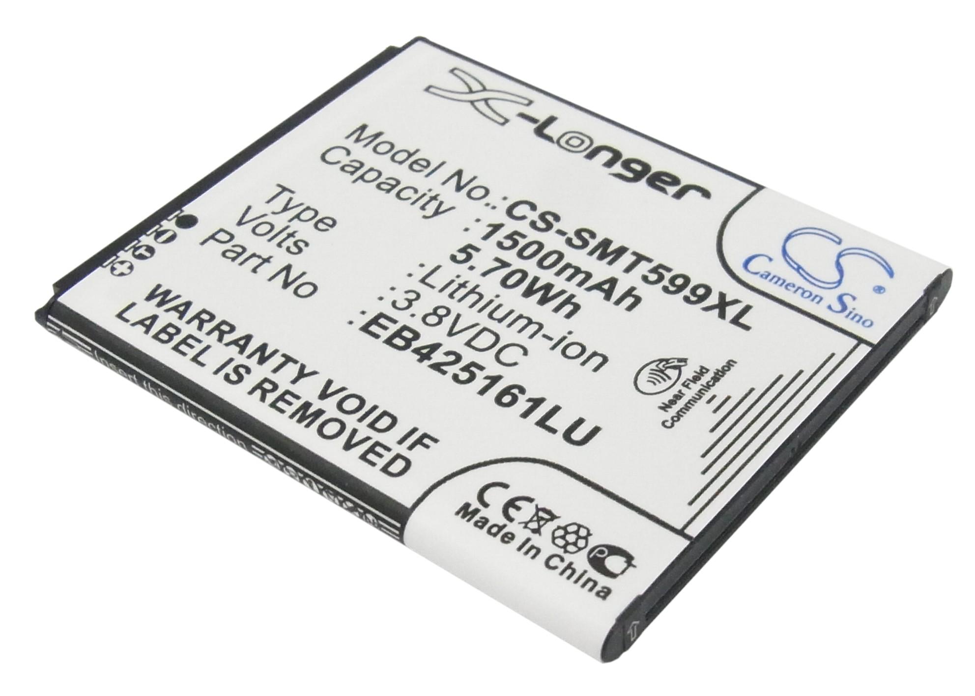 Cameron Sino baterie do mobilů pro SAMSUNG GT-I8160 3.8V Li-ion 1500mAh černá - neoriginální