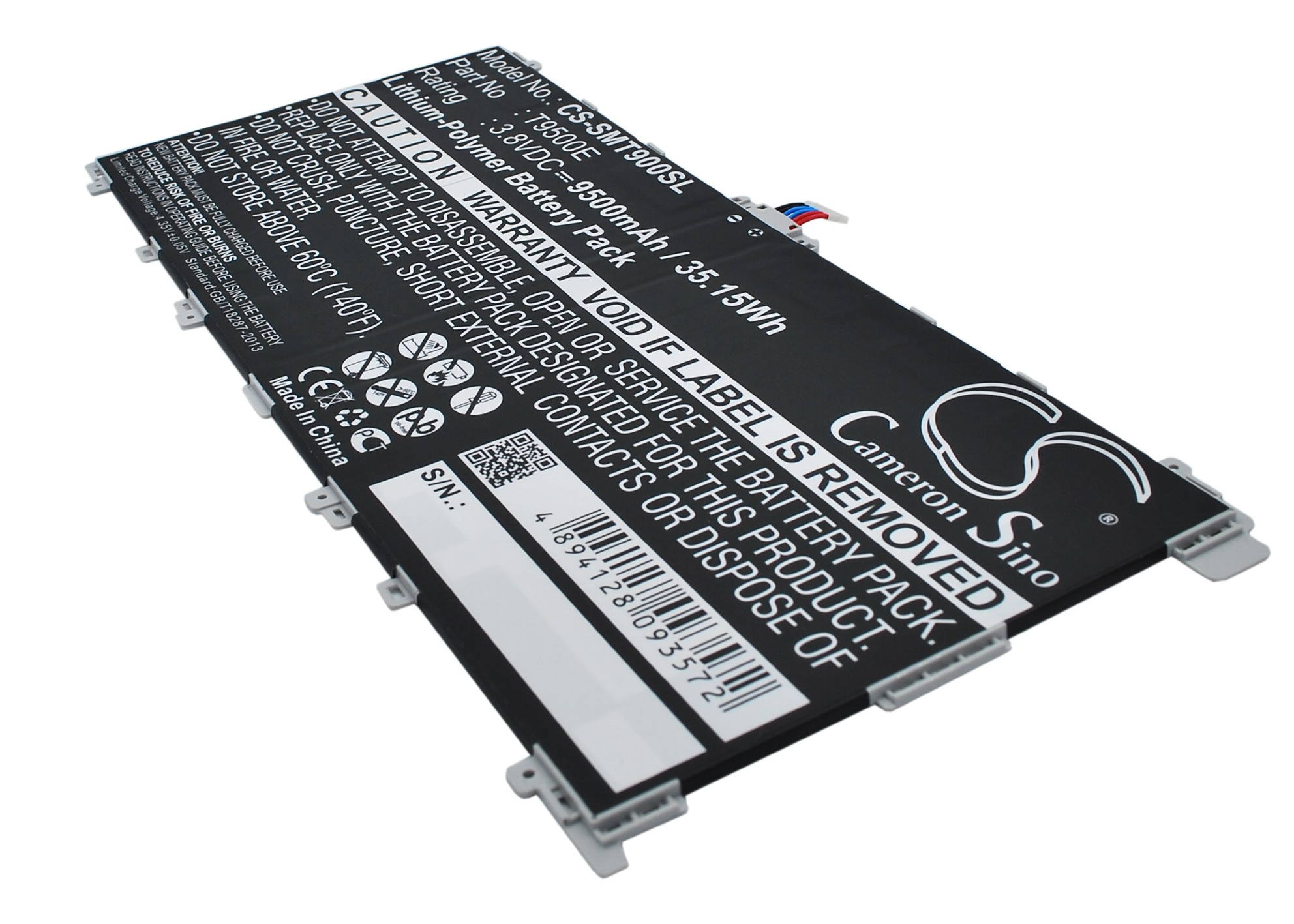 Cameron Sino baterie do tabletů pro SAMSUNG SM-T900 3.8V Li-Polymer 9500mAh černá - neoriginální