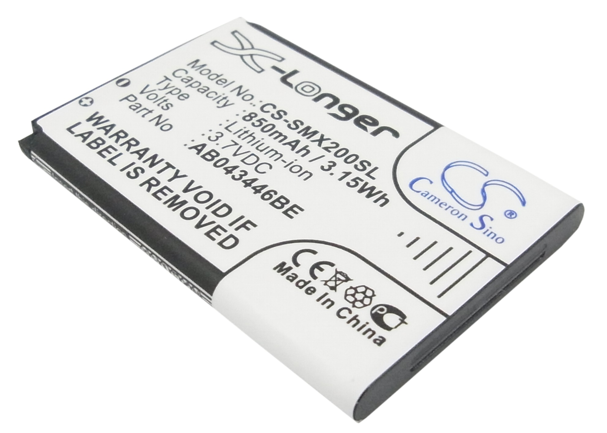 Cameron Sino baterie do mobilů pro SAMSUNG GT-E2120 3.7V Li-ion 850mAh černá - neoriginální