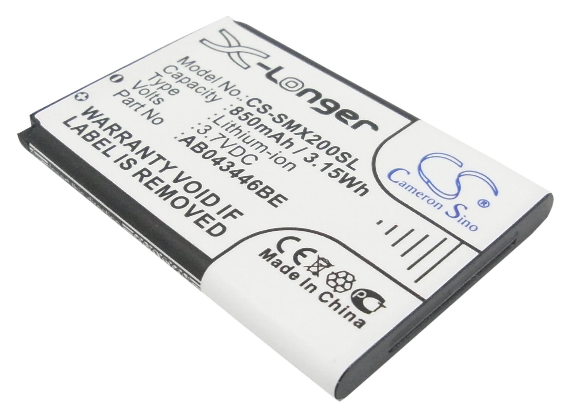 Cameron Sino baterie do mobilů pro SAMSUNG SGH-X210 3.7V Li-ion 850mAh černá - neoriginální