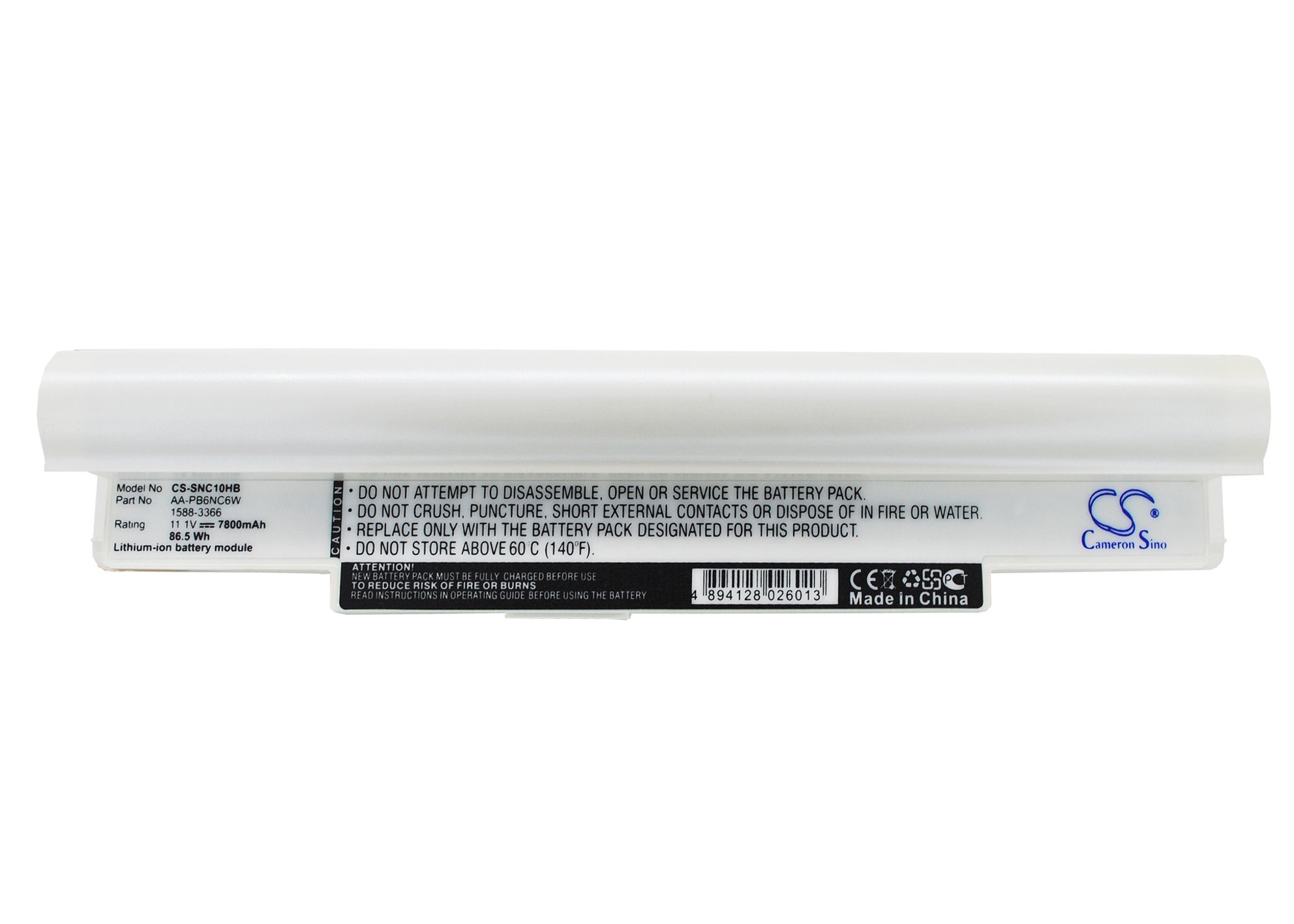 Cameron Sino baterie do notebooků pro SAMSUNG NP-N130-KA05US 11.1V Li-ion 7800mAh bílá - neoriginální