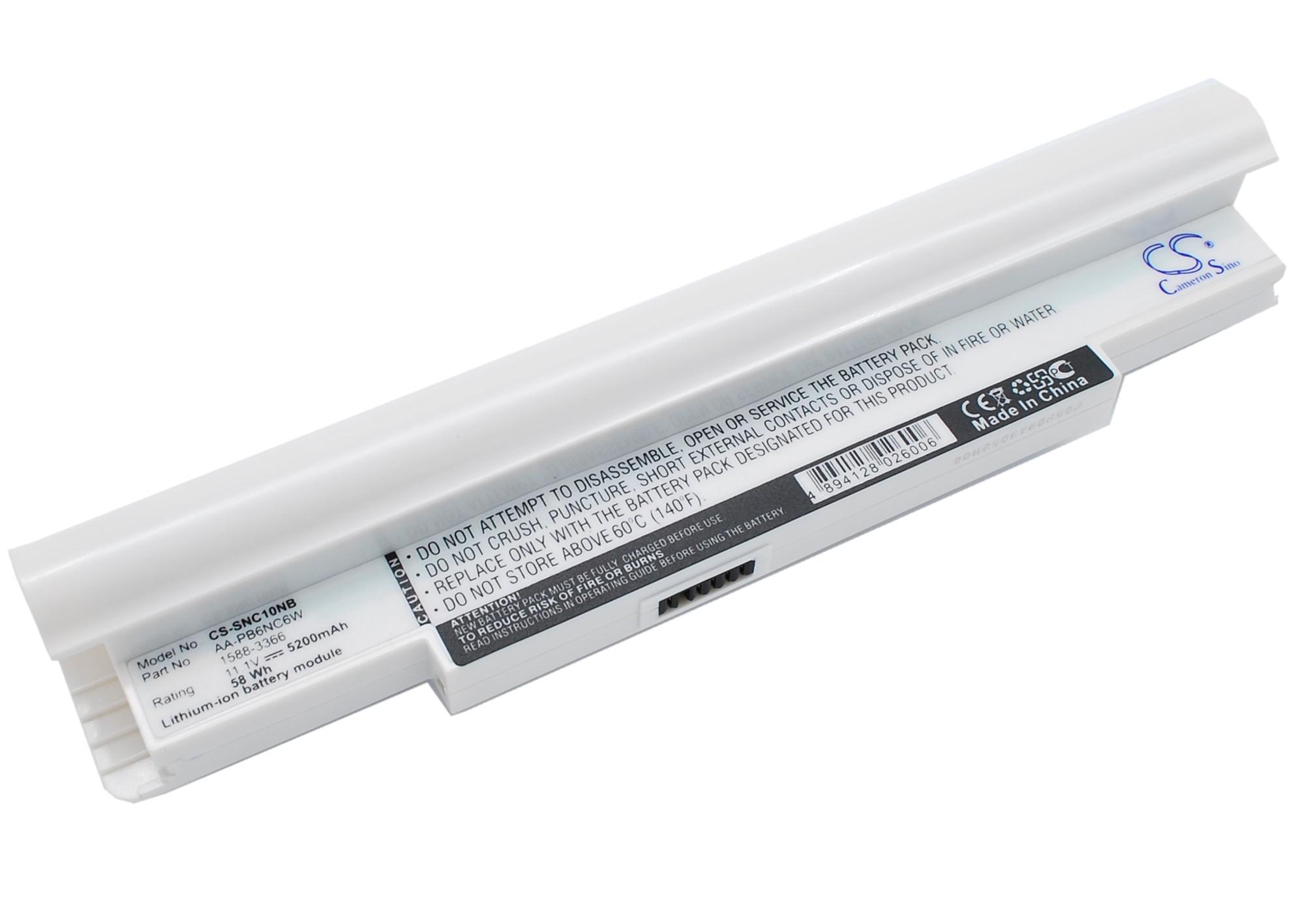 Cameron Sino baterie do notebooků pro SAMSUNG NP-N130 11.1V Li-ion 5200mAh bílá - neoriginální