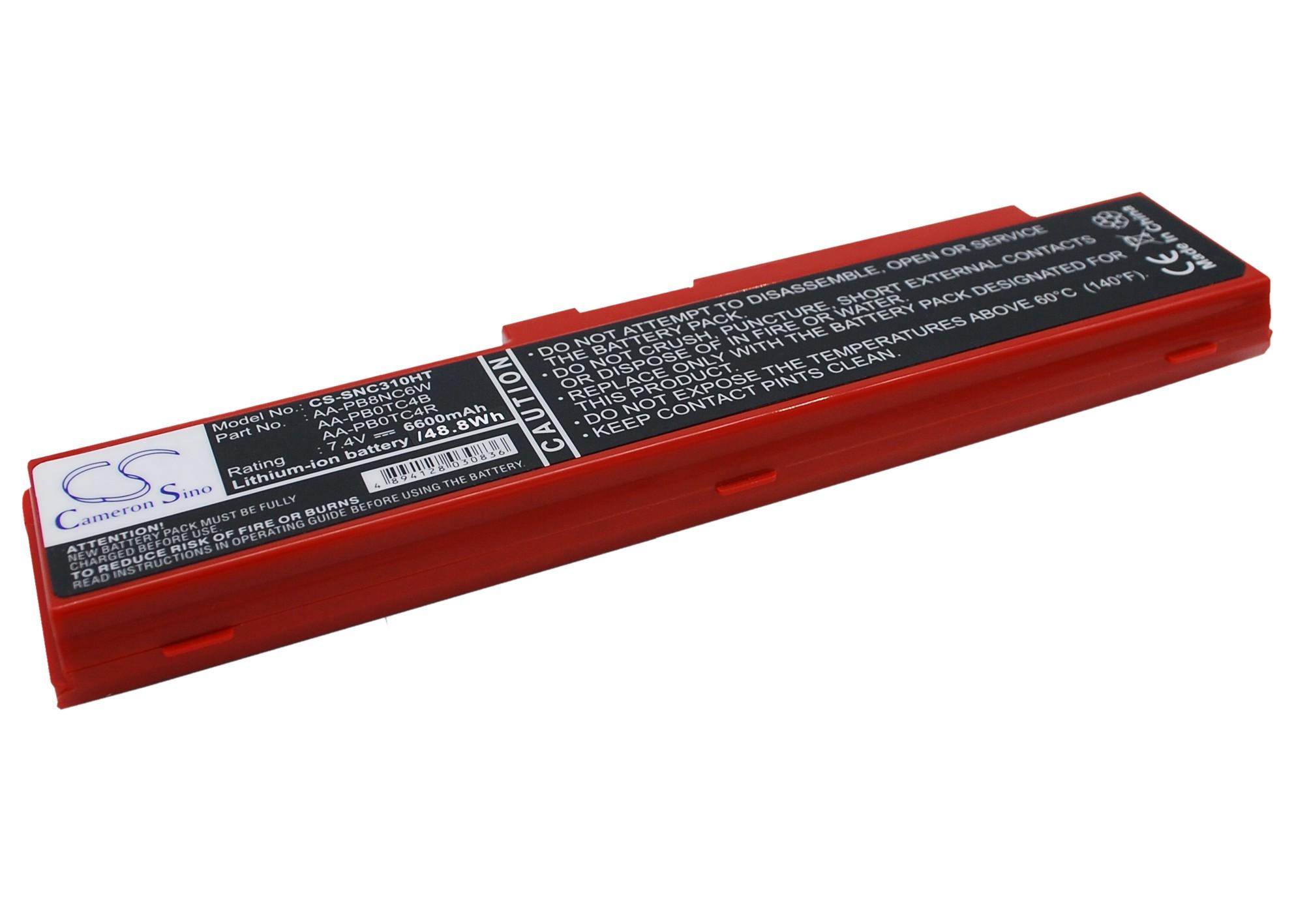 Cameron Sino baterie do netbooků pro SAMSUNG NP-N310-KA04UK 7.4V Li-ion 6600mAh červená - neoriginální